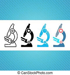 Microscope icons