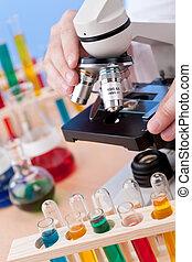 Microscope in a Scientific Research Laboratory