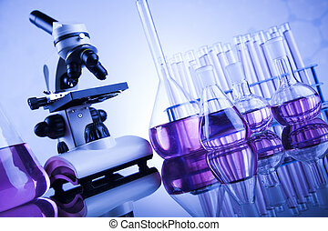 Microscope in medical laboratory, Research and experiment