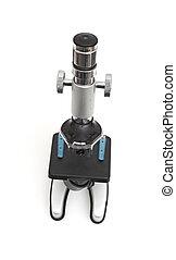 Microscope isolated on white background
