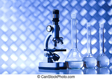 Microscope, Laboratory glass