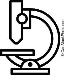 Microscope Outline Icon