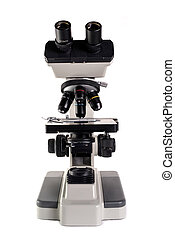 microscope under the white background