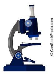Microscope. Vector cartoon illustration isolated on white ...