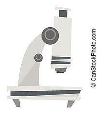 Microscope vector cartoon illustration.