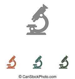 microscope vector icon isolated on white background