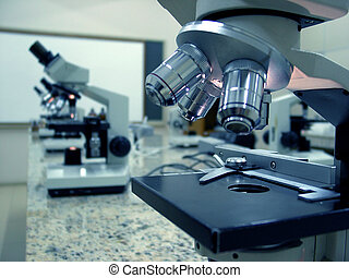 microscopes - modern lab