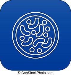 Microscopic bacteria icon blue vector