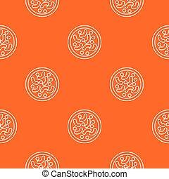 Microscopic bacteria pattern vector orange