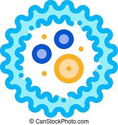 Microscopic Bacterium Microgerm Vector Sign Icon