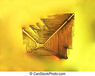 Microscopic table salt crystal