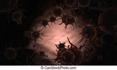 Microscopic Virus cells
