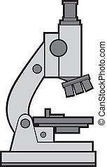 microscopio, vector