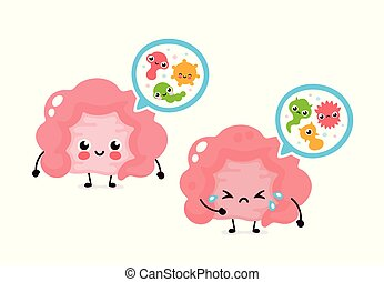 microscopisch, darm, bacterias