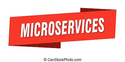 microservices banner template. microservices ribbon label sign