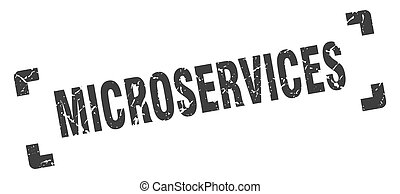 microservices stamp. square grunge sign on white background