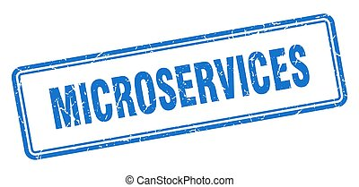 microservices stamp. square grunge sign isolated on white background