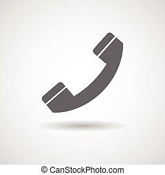 microteléfono, vector, ilustración, icono