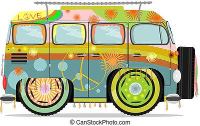 microvan, hippie