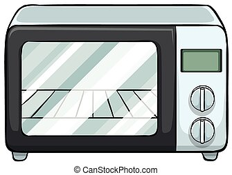 Microwave - Close up electronic microwave oven