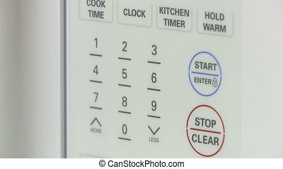 Microwave control panel - Using a microwave control panel