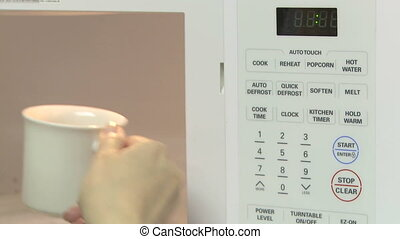 Microwave control panel - Using a microwave
