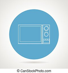 Microwave flat line vector icon