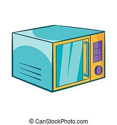 Microwave icon, cartoon style