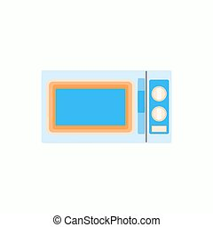 Microwave icon in flat style, kitchenware illustration Vector
