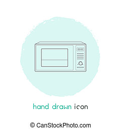 Microwave icon line element. illustration of microwave icon line isolated on clean background for your web mobile app logo design.