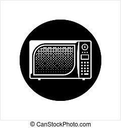 Microwave Icon, Microwave Vector Art Illustration