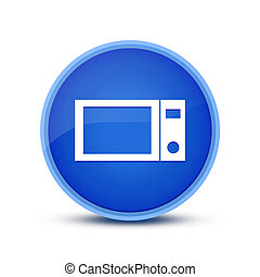 Microwave kitchen icon isolated on special blue round button abstract