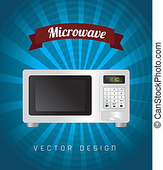 microwave - microwave design over blue background vector...