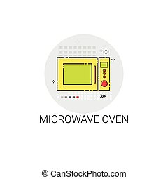 Microwave Oven Cooking Utensils Kitchen Equipment Appliances Icon