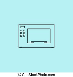 Microwave oven icon, sign and button - Microwave oven....