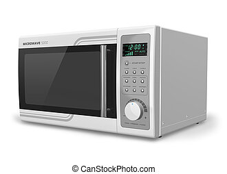 Microwave oven isolated on white background Design is my own...