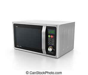 microwave oven isolated on white background.