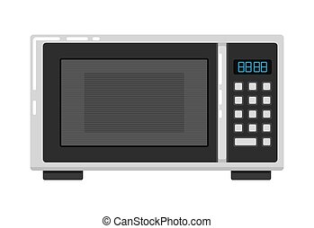 Microwave oven isolated on white background