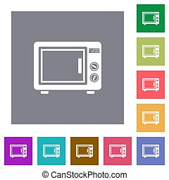 Microwave oven square flat icons