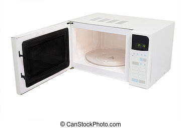 microwave oven isolated under the white background