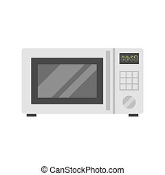 Microwave oven vector illustration.