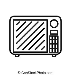 microwave oven vector illustration design
