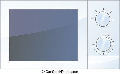 Microwave oven - vector illustration of isolated microwave...