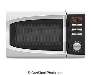 microwave oven with electronically controlled vector...