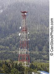 Microwave Tower in Alaska Wilderness