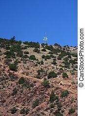 Microwave Tower on desert Hill