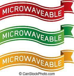 microwaveable, voedingsmiddelen, etiket