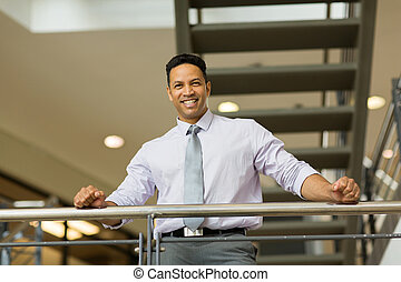 mid age corporate worker in modern office