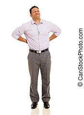 mid age man having backache