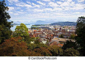 Mid-Air View of Lucerne, Switzerland